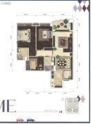 葛洲坝保利曼城3室2厅2卫102平方米户型图