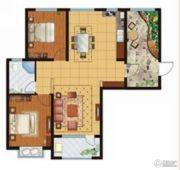 万国园星洲美域2室2厅1卫109平方米户型图