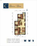 呼和浩特富力城3室2厅2卫126平方米户型图