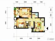 凯隆橙仕公馆2室1厅1卫33平方米户型图