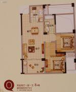 文晖名苑2室2厅1卫79平方米户型图