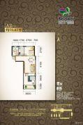 虹京国际2室2厅1卫73平方米户型图