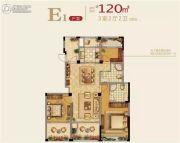 正泰江岸水苑3室2厅2卫120平方米户型图