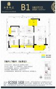 和丰御庭3室2厅2卫100平方米户型图