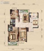 中冶・39大街3室2厅2卫129平方米户型图