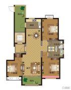 华明星海湾3室2厅2卫138平方米户型图