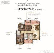 九华世纪城4室2厅2卫125--127平方米户型图