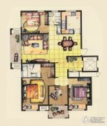 融侨观邸4室2厅2卫141平方米户型图