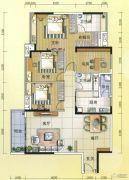 元邦明月水岸4室2厅2卫157平方米户型图