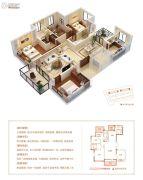 当代万国府MOMΛ4室2厅2卫140平方米户型图