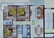 春天海景3室2厅2卫132平方米户型图