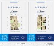 美美世界2室2厅2卫84--89平方米户型图