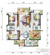 新鸿基悦城3室2厅2卫149平方米户型图