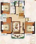 佳田未来城3室2厅2卫132平方米户型图