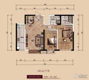 中广宜景湾・尚城2室2厅2卫99平方米户型图
