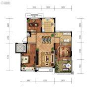 金地檀悦3室2厅1卫101平方米户型图