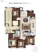 滨江保利・翡翠海岸5室2厅2卫137平方米户型图