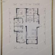 亿达城2室2厅2卫0平方米户型图
