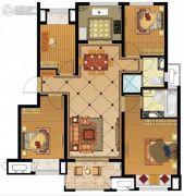 金地名悦4室2厅2卫128平方米户型图