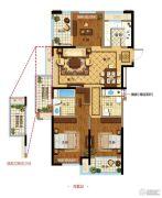 金都夏宫3室2厅2卫0平方米户型图