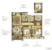 复地江城国际3室2厅1卫92平方米户型图