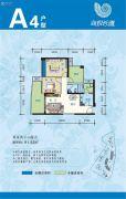 海悦湾2室2厅1卫91--92平方米户型图