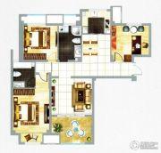 融信新新家园3室2厅2卫133平方米户型图