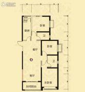 恒大山水城3室2厅1卫136平方米户型图