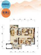 顺德碧桂园4室2厅2卫116平方米户型图