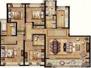 保利翡丽公馆4室2厅3卫177平方米户型图