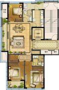 江湾城二期3室1厅2卫140平方米户型图