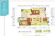 羌多娜2室2厅2卫121平方米户型图