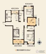 华天公馆3室2厅2卫139平方米户型图