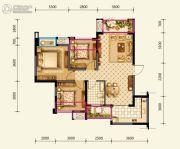 绿地国际花都3室2厅1卫88平方米户型图