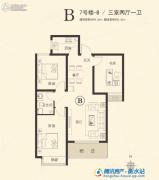 星河湾・荣景园3室2厅1卫98平方米户型图