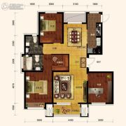 保利海上五月花3室2厅2卫131平方米户型图