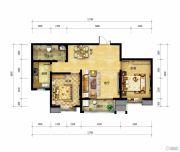 北郡帕提欧2室2厅1卫95平方米户型图