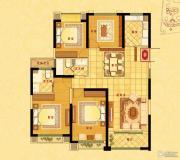 中南世纪花城4室2厅2卫139平方米户型图