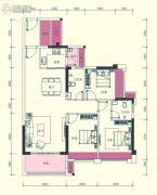 汇显城市公园3室2厅2卫108--109平方米户型图