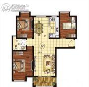 中润凤凰城3室2厅1卫125平方米户型图