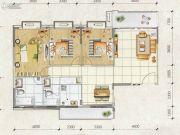 城市花园3室2厅2卫0平方米户型图