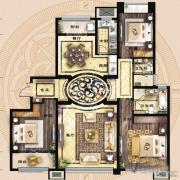 保利海德公馆3室2厅2卫167平方米户型图