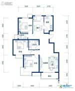 海岸国际3室2厅2卫128平方米户型图