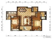 金融街融御2室2厅2卫121平方米户型图