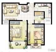 荣记玖珑湾2室1厅1卫91平方米户型图