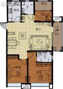 国信紫玉台3室2厅2卫115平方米户型图