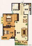 翡翠庄园2室2厅1卫97平方米户型图