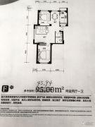 同诚幸福家2室2厅1卫95平方米户型图