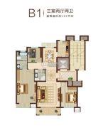 燕赵锦河湾3室2厅2卫122平方米户型图
