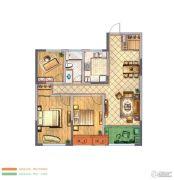 金新御园3室2厅1卫106平方米户型图